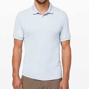 Lululemon Tech pique polo dawn blue anti stink new